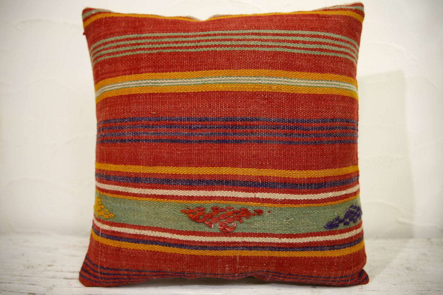 Kilim Pillows | 16x16 | Turkish pillows | 1046 | Ethnic Pillow , Kelim cushion ,