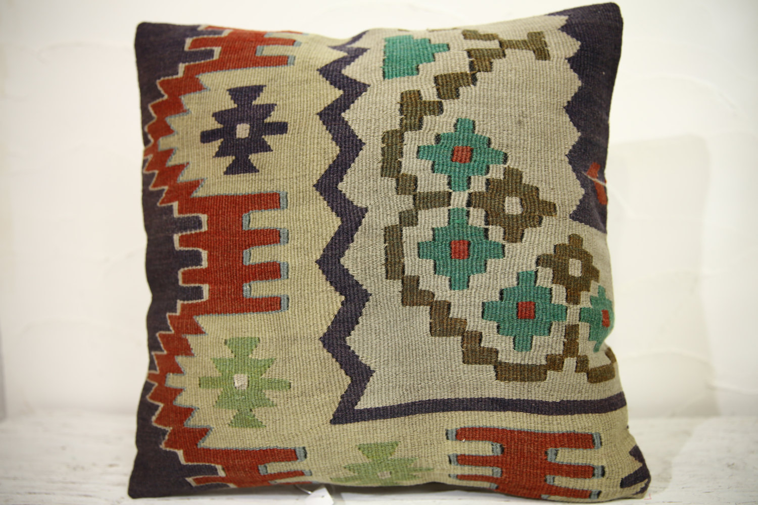 Kilim Pillows | 16x16 | Turkish pillows | 1048 | Ethnic Pillow , Kelim cushion ,