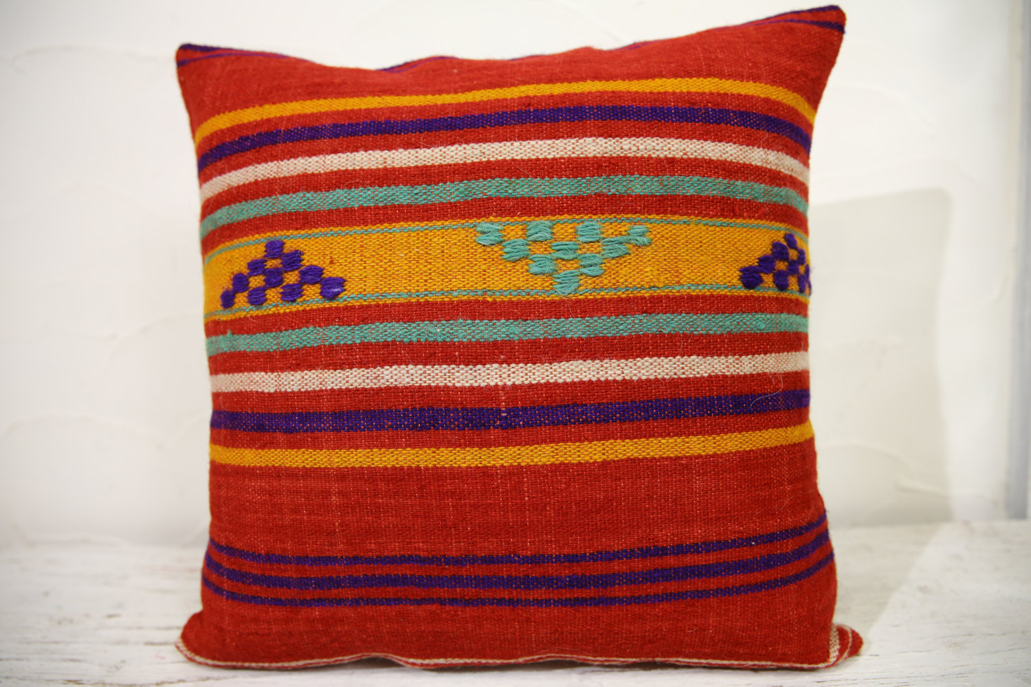 Kilim Pillows | 16x16 | Turkish pillows | 1045 | Ethnic Pillow , Kelim cushion ,