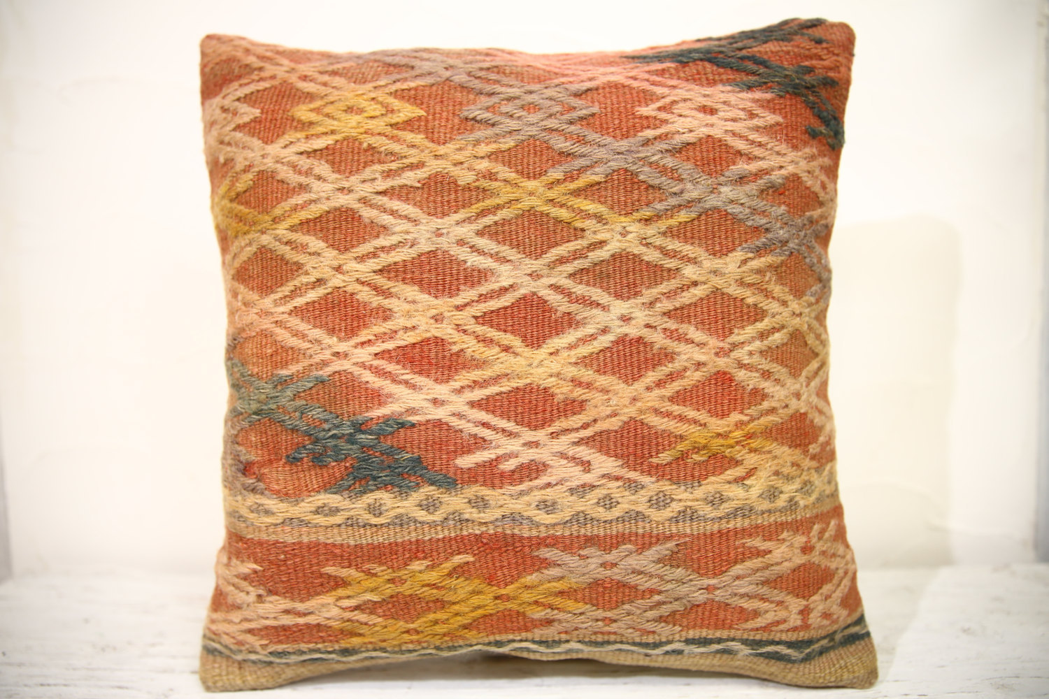 Kilim Pillows | 16x16 | Decorative Pillows | 957 | Accent Pillows , turkish pill