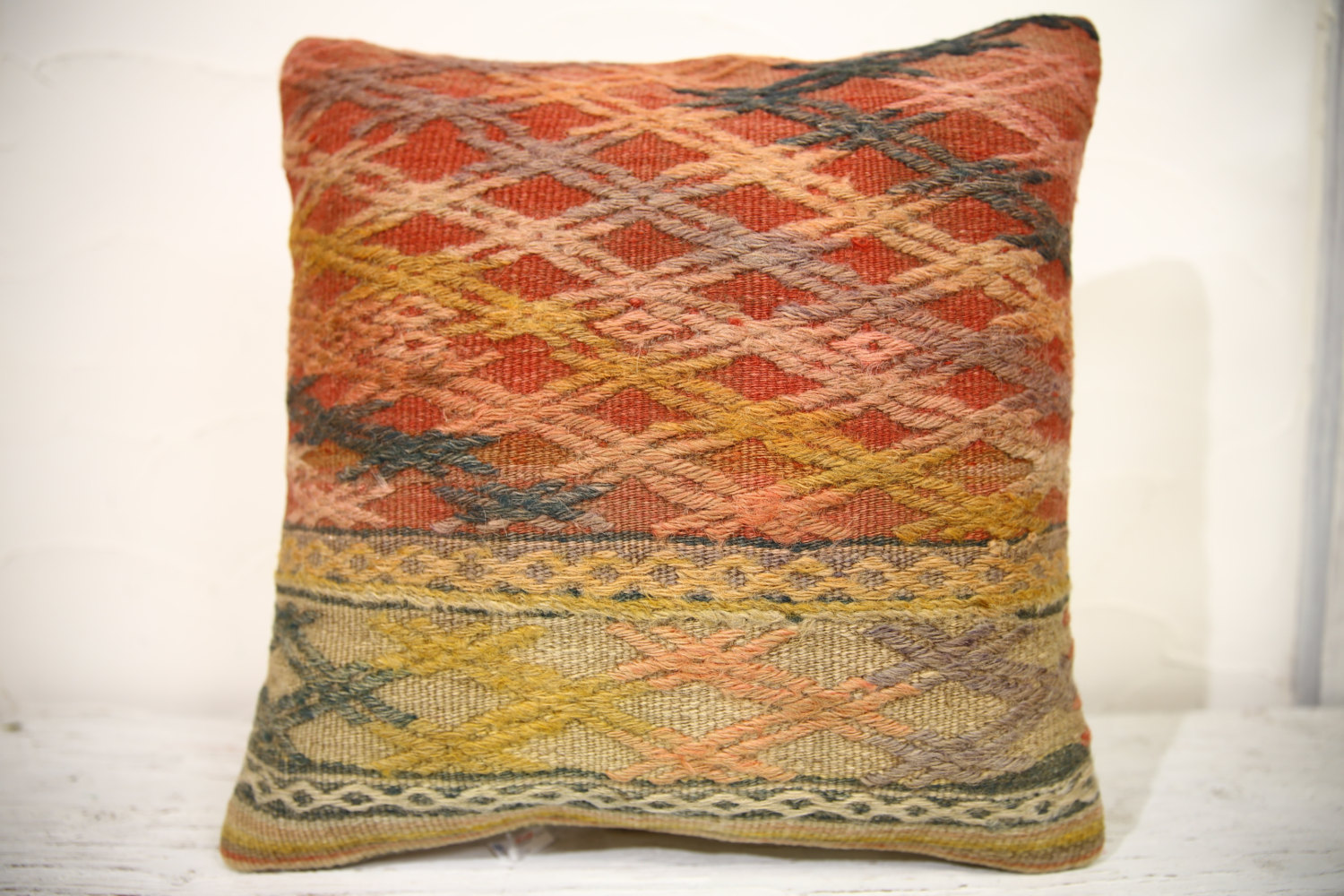 Kilim Pillows | 16x16 | turkish pillows | 959 | Accent Pillows , Decorative Pill
