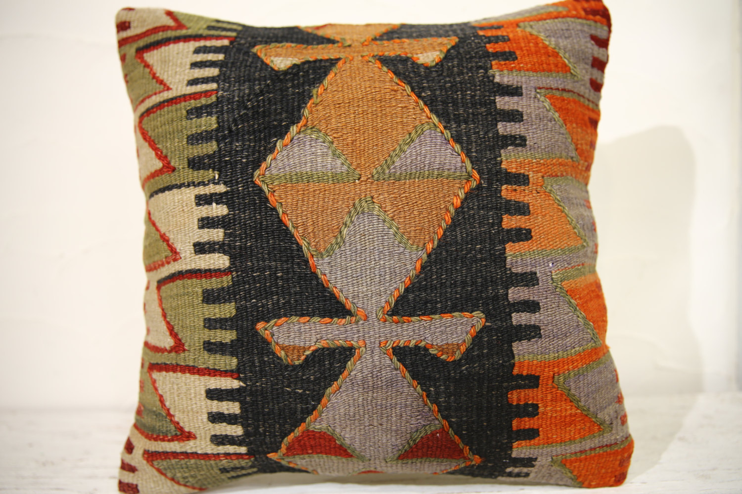 Kilim Pillows | 16x16 | Decorative Pillows | 885 | Accent Pillows , turkish pill