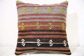 Kilim Pillows |16x16 | Decorative Pillows | 765 | Accent Pillows , turki... - $42.00