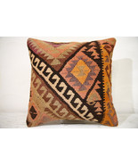 Kilim Pillows | 16x16 | Decorative Pillows | 769 | Accent Pillows , turk... - $49.00