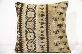 Kilim Pillows | 16x16 | Decorative Pillows | 772 | Accent Pillows , turk... - $49.00