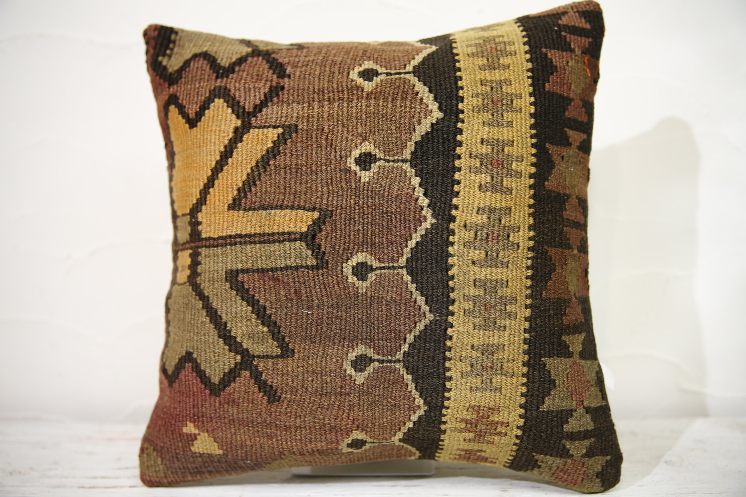 Kilim Pillows |16x16 | Decorative Pillows | 763 | Accent Pillows , turkish pillo