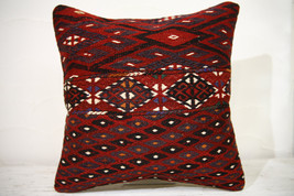 Kilim Pillows |16x16 | Decorative Pillows | 757 | Accent Pillows , turki... - $49.00