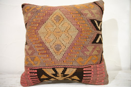Kilim Pillows |16x16 | Decorative Pillows | 752 | Accent Pillows , turki... - $56.00