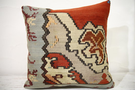 Kilim Pillows |16x16 | Decorative Pillows | 758 | Accent Pillows , turki... - $56.00