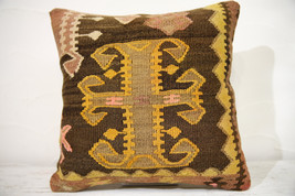 Kilim Pillows |16x16 | Decorative Pillows | 764 | Accent Pillows , turki... - $56.00
