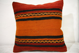 Kilim Pillows |16x16 | Decorative Pillows | 756 | Accent Pillows , turki... - $35.00