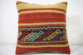 Kilim Pillows |16x16 | Decorative Pillows | 745 | Accent Pillows , turki... - $42.00