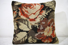 Kilim Pillows |16x16 | Decorative Pillows | 744 | Accent Pillows , turki... - $56.00