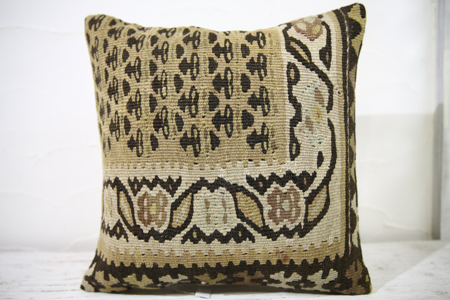 Kilim Pillows |16x16 | Decorative Pillows | 746 | Accent Pillows , turkish pillo