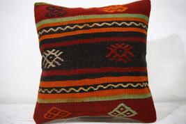 Kilim Pillows |16x16 | Decorative Pillows | 736 | Accent Pillows , turki... - $35.00