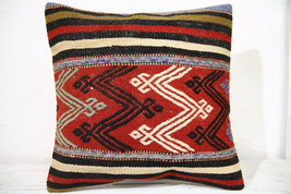 Kilim Pillows |16x16 | Decorative Pillows | 726 | Accent Pillows , turki... - $49.00