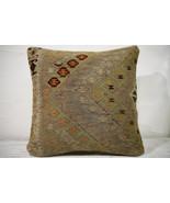 Kilim Pillows |16x16 | Decorative Pillows | 731 | Accent Pillows , turki... - $49.00