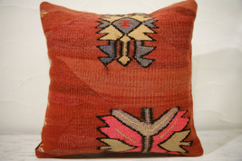 Kilim Pillows |16x16 | Decorative Pillows | 729 | Accent Pillows , turki... - $56.00