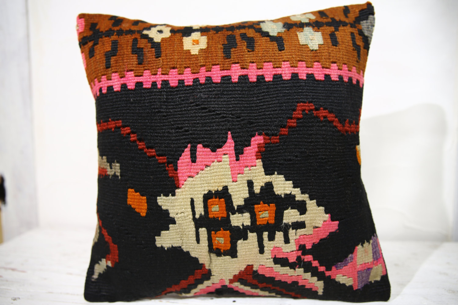 Kilim Pillows |16x16 | Decorative Pillows | 714 | Accent Pillows , turkish pillo