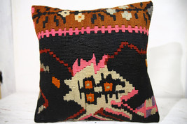 Kilim Pillows |16x16 | Decorative Pillows | 714 | Accent Pillows , turki... - $56.00
