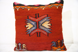 Kilim Pillows |16x16 | Decorative Pillows | 710 | Accent Pillows , turki... - $56.00