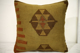 Kilim Pillows |16x16 | Decorative Pillows | 698 | Accent Pillows , turki... - $35.00