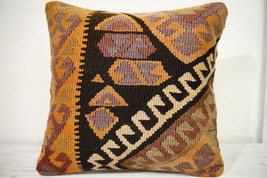 Kilim Pillows |16x16 | Decorative Pillows | 696 | Accent Pillows , turki... - $56.00