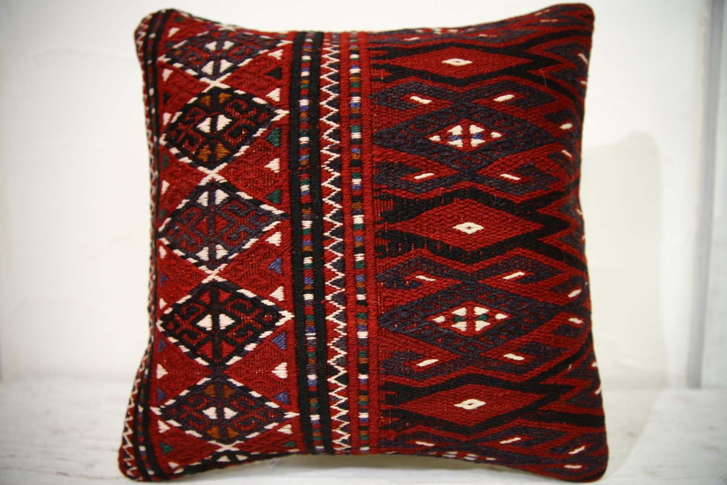 Kilim Pillows |16x16 | Decorative Pillows | 687 | Accent Pillows , turkish pillo