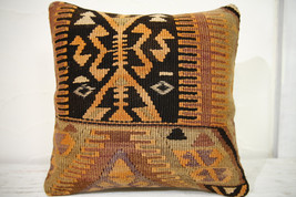 Kilim Pillows |16x16 | Decorative Pillows | 685 | Accent Pillows , turki... - $56.00