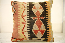 Kilim Pillows |16x16 | Decorative Pillows | 632 | Accent Pillows , turki... - $42.00