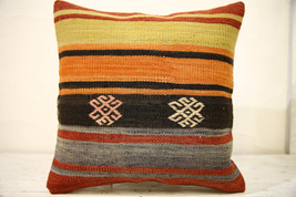 Kilim Pillows |16x16 | Decorative Pillows | 628 | Accent Pillows , turki... - $35.00