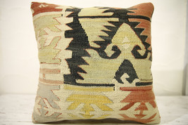Kilim Pillows |16x16 | Decorative Pillows | 624 | Accent Pillows , turki... - $49.00