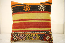 Kilim Pillows |16x16 | Decorative Pillows | 627 | Accent Pillows , turki... - $42.00