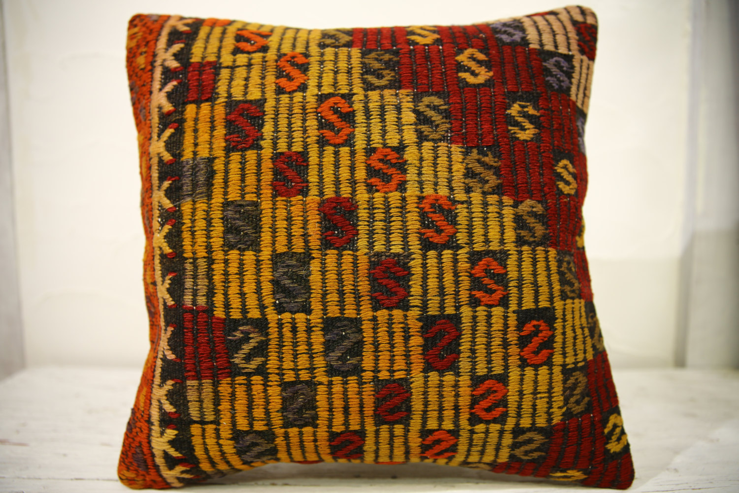 Kilim Pillows |16x16 | Decorative Pillows | 623 | Accent Pillows , turkish pillo