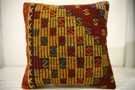 Kilim Pillows |16x16 | Decorative Pillows | 623 | Accent Pillows , turki... - $35.00