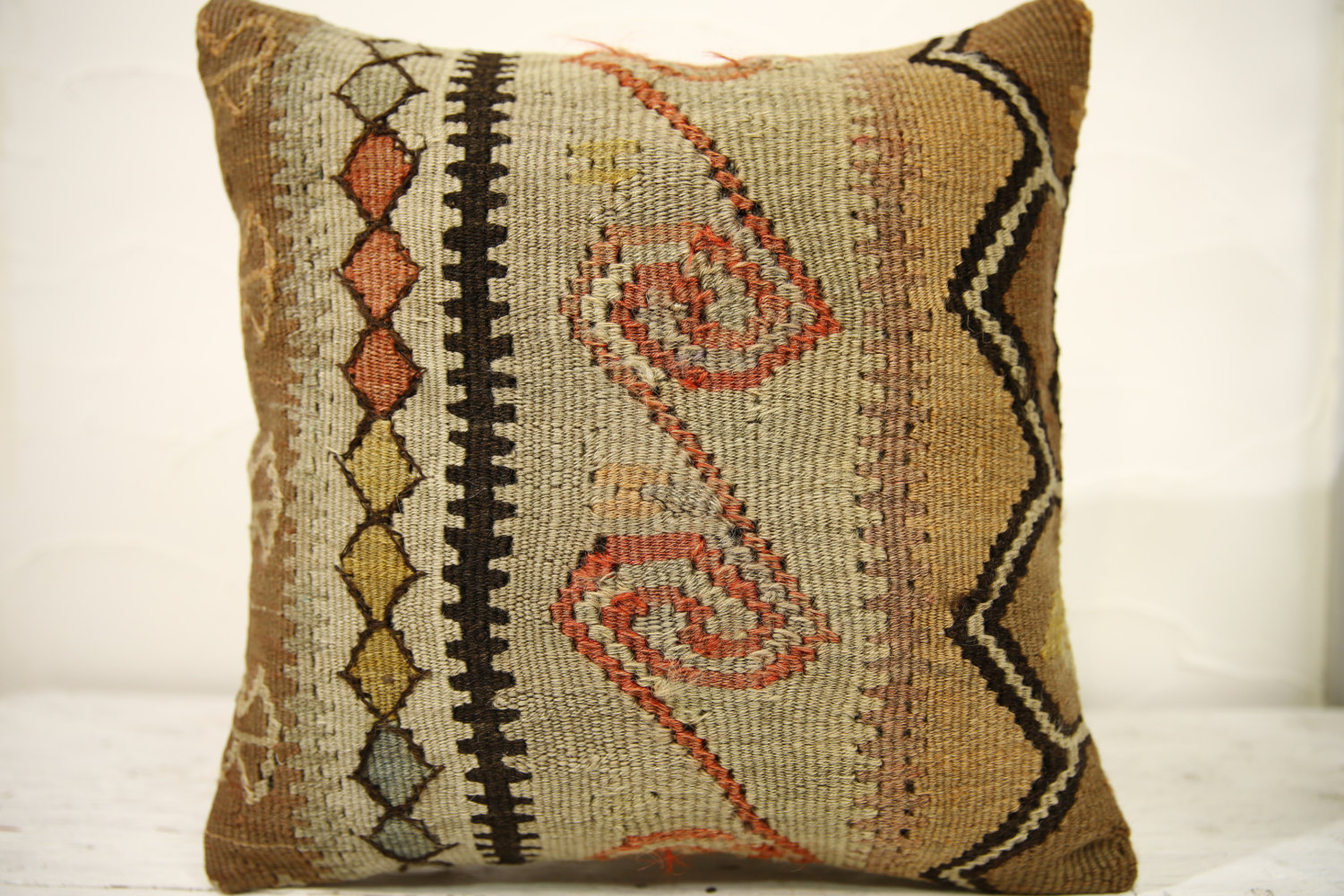 Kilim Pillows |16x16 | Decorative Pillows | 622 | Accent Pillows , turkish pillo
