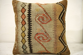 Kilim Pillows |16x16 | Decorative Pillows | 622 | Accent Pillows , turki... - $56.00