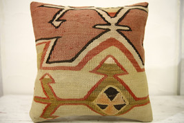 Kilim Pillows |16x16 | Decorative Pillows | 621 | Accent Pillows , turki... - $42.00