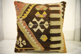 Kilim Pillows |16x16 | Decorative Pillows | 606 | Accent Pillows , turki... - $42.00