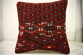 Kilim Pillows |16x16 | Decorative Pillows | 610 | Accent Pillows , turki... - $49.00