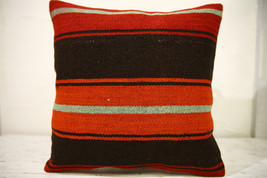 Kilim Pillows |16x16 | Decorative Pillows | 607 | Accent Pillows , turki... - $35.00
