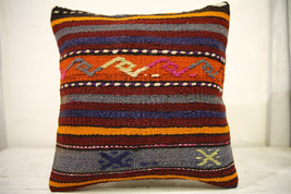 Kilim Pillows |16x16 | Decorative Pillows | 605 | Accent Pillows , turki... - $35.00