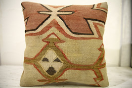 Kilim Pillows |16x16 | Decorative Pillows | 611 | Accent Pillows , turki... - $42.00