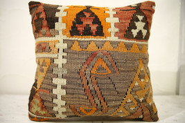 Kilim Pillows |16x16 | Decorative Pillows | 602 | Accent Pillows , turki... - $49.00