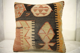Kilim Pillows |16x16 | Decorative Pillows | 596 | Accent Pillows , turki... - $42.00