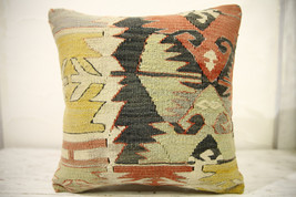 Kilim Pillows |16x16 | Decorative Pillows | 598 | Accent Pillows , turki... - $49.00