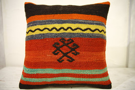 Kilim Pillows |16x16 | Decorative Pillows | 595 | Accent Pillows , turki... - $35.00