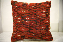 Kilim Pillows |16x16 | Decorative Pillows | 591 | Accent Pillows , turki... - $42.00