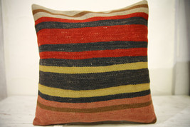 Kilim Pillows |16x16 | Decorative Pillows | 590 | Accent Pillows , turki... - $35.00