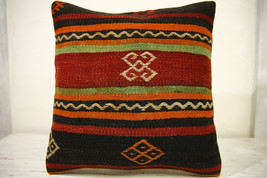 Kilim Pillows |16x16 | Decorative Pillows | 588 | Accent Pillows , turki... - $35.00